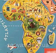 Магнитная карта мира (русский, англ. языки)