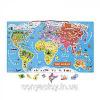 Магнитная карта мира (англ. языки). 3+