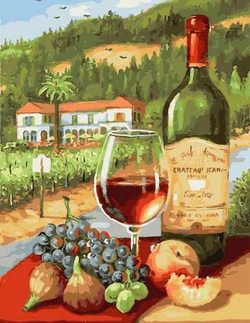 Картина по номерам 40х50см. gx28187 Вино и фрукты Rainbow, фото 2