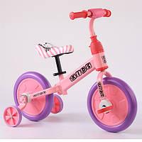 Беговел детский PROFI KIDS М 5453-4 педали колеса 12 дюймов розовый