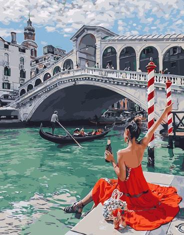 Картина по номерам 40х50см. gx28616 Отдых в Венеции Rainbow