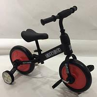 Беговел детский PROFI KIDS М 5452-1 педали колеса 12 дюймов черно-красный