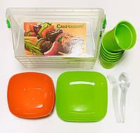 Набор для пикника Контейнер и посуда