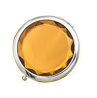 Зеркальце карманное Wellamart, Оранжевый (Арт. U016-1)