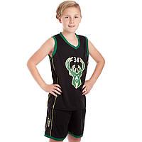 Форма баскетбольная подростковая NB-Sport NBA 34, PL, р-р M-2XL-130-165см, черный (BA-0972)