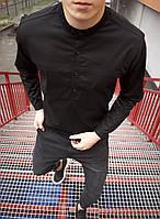 Мужская Рубашка Молодежь Черная, фото 1