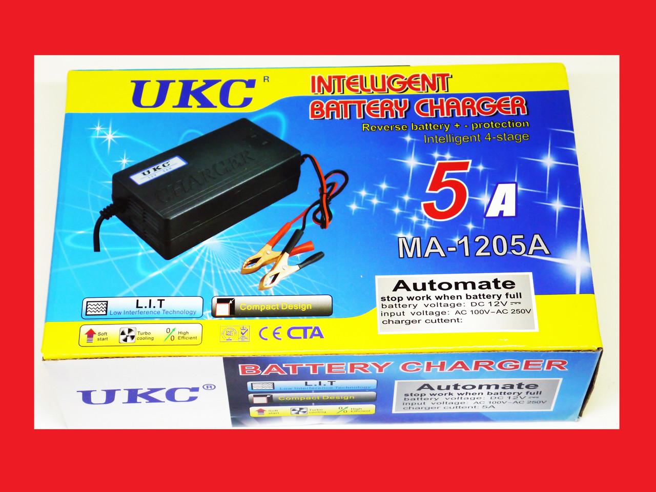Зарядное устройство для автомобиля 12 вольт 5 ампер, UKC Battery Charger 5A