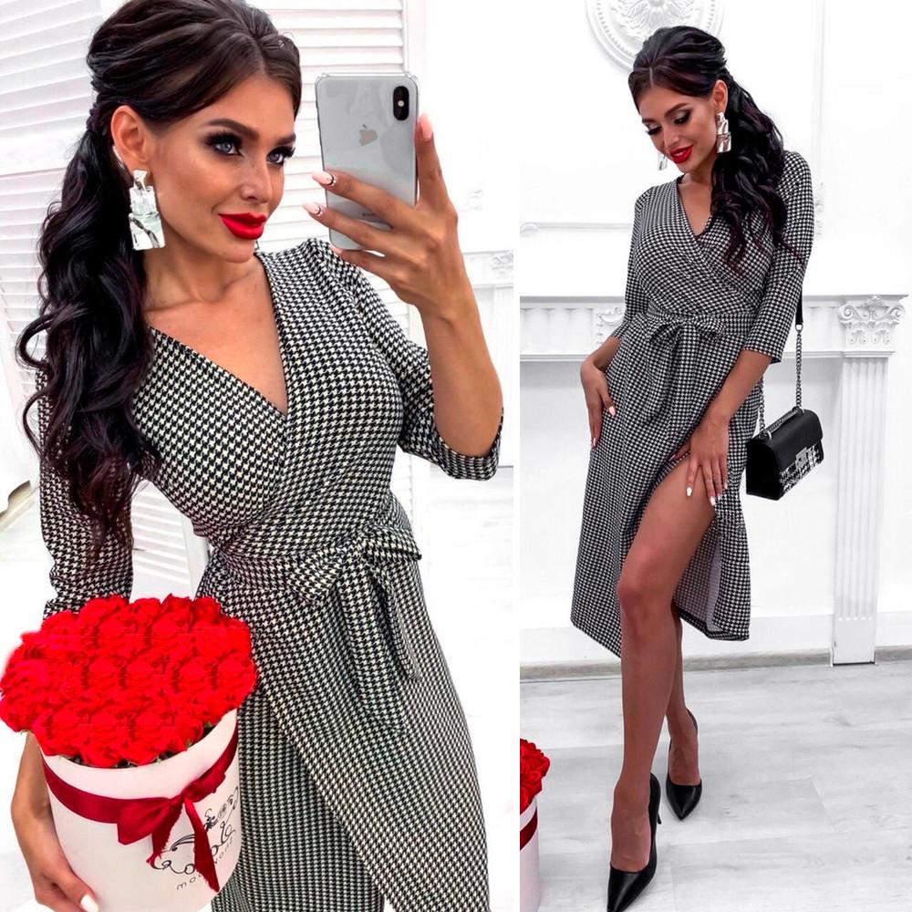 Платье-халат Гусиная лапка (Код MF-205)