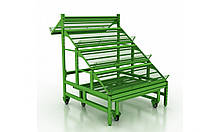 Стеллаж овощной с подиумом на колесах (9981-054-05)
