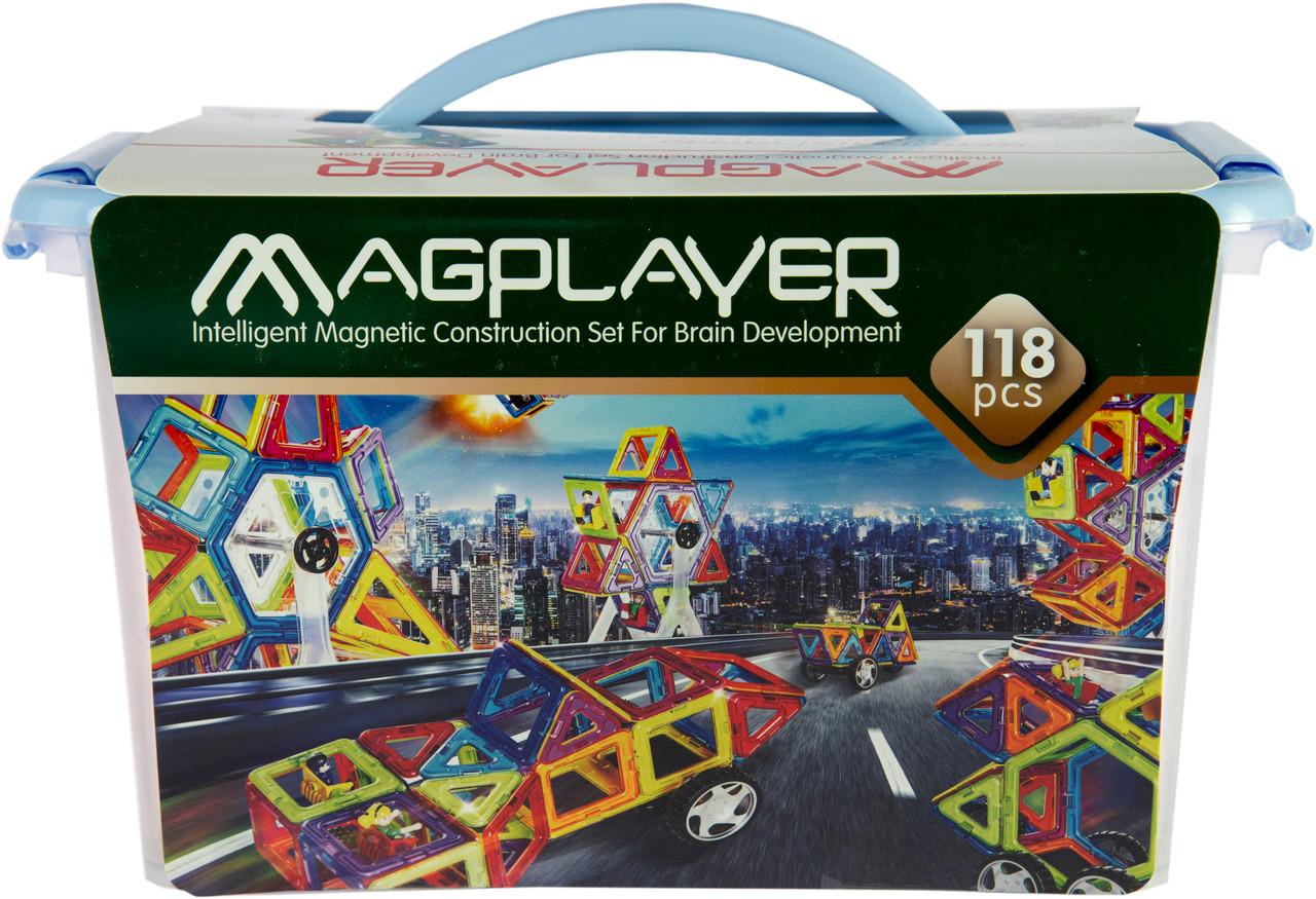 MagPlayer Конструктор магнитный 118 эл. MPT-118