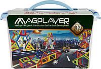 MagPlayer Конструктор магнитный 118 эл. MPT-118, фото 1