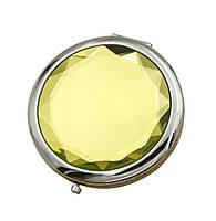 Зеркальце карманное Wellamart, Желтый (Арт. U016-4)