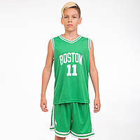 Форма баскетбольная подростковая NB-Sport NBA BOSTON 11, PL, р-р M-2XL-130-165см, зеленый (6354)