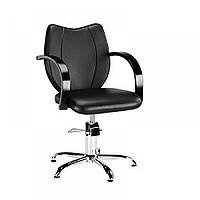 Кресло парикмахерское клиента Толедо (Toledo) Парикмахерские кресла для салонов с деревянными подлокотниками