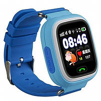 ✸Детские cмарт-часы UWatch Q90 Blue с функцией GPS\A-GPS трекера Wi-Fi сенсорный цветной экран Android IOS, фото 4
