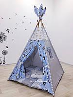 """Детский вигвам , домик, палатка для игры """" Мудрый панда """" , четырехгранный"""