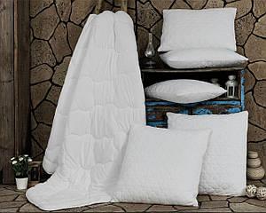 Одеяло Антиаллергенное Двухстороннее 155*215 полуторное Elita Белое Бежевое