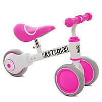 Беговел детский PROFI KIDS M 5461-5 3 колеса 7 дюймов бело-розовый