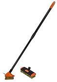 Набор металических щеток, с телескопическим черенком 80-140см, KT-CX14 BRADAS