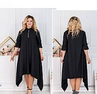 / Размер 50-52,54-56,58-60,62-64,66-68 / Женское привлекательное платье большого размера / 163-Черный