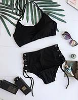 Купальник женский KARELLE's раздельный XL черный (41XL)