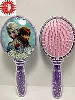 Расчёска для волос LaRosa FROZEN детская массажная с блёстками фиолетовая LR-7039