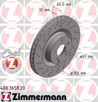 ZIMMERMANN 400365820 Диск гальмівний для MERCEDES-BENZ S-CLASS (W221), MERCEDES-BENZ S-CLASS купе (C216), MERCEDES-BENZ SL (R230), MERCEDES-BENZ
