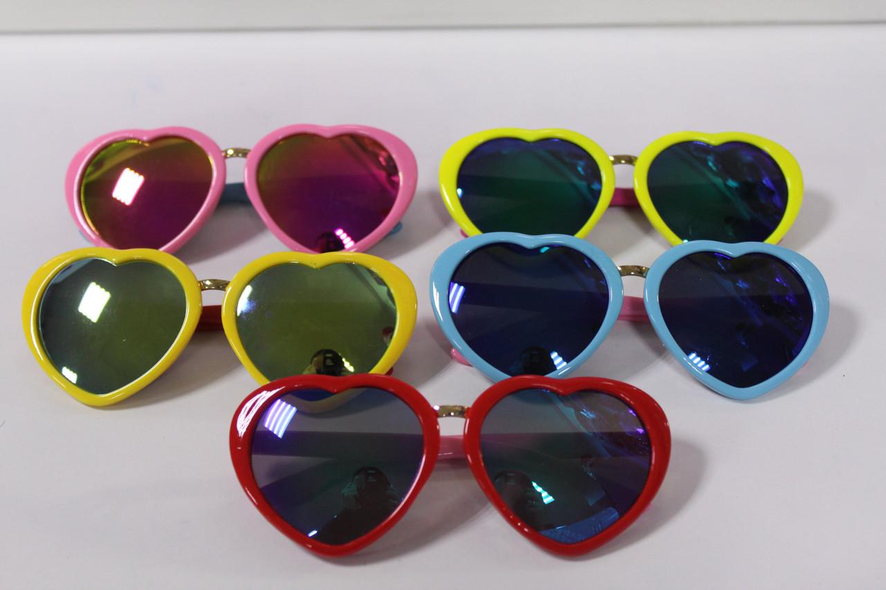 Детские солнцезащитные очки в форме сердца 1 шт