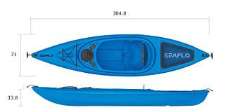 Взрослый каяк SF-1004 Blue знаменитого бренда SeaFlo