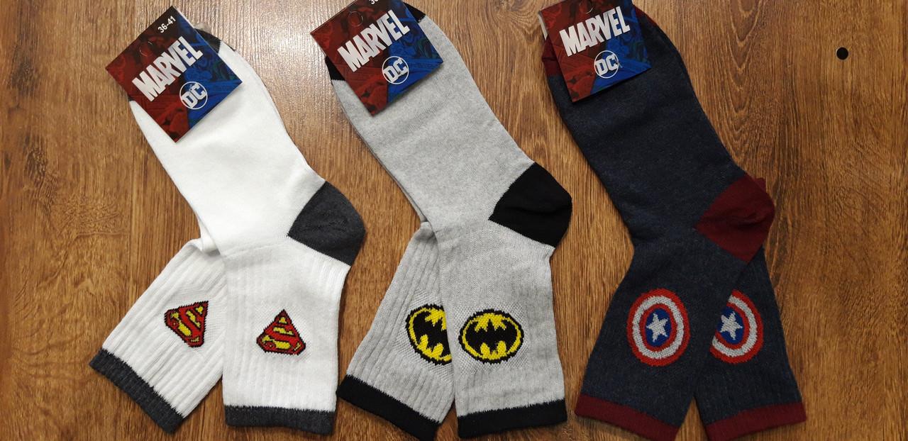 """Жіночі шкарпетки,висока гумка """"MARVEL""""Туреччина 36-41"""