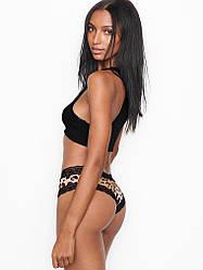 💋 Трусики Чики Victoria's Secret Lace Cheeky Panty (р. XS-M), Леопардовые