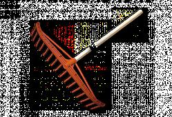 Грабли ПВХ - 16 зубцов, с деревянным черенком, KT-CX16U BRADAS
