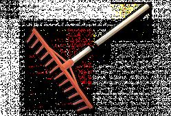 Грабли ПВХ - 12 зубцов, с деревянным черенком, KT-CX12U BRADAS