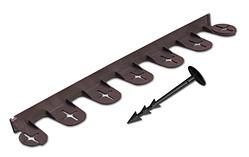 Бордюр газонный PALISGARDEN, 75м, набор-125 элементов / 60 см*38мм+300 колышков GeoPEG, коричневый, OBP1201-075BN