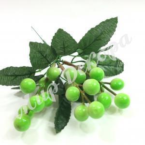 Веточка с ягодами, зеленая, 20 см