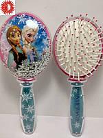 Расчёска для волос LaRosa FROZEN Холодное серце - Анна & Эльза детская массажная с блёстками LR-7038