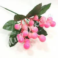 Веточка с ягодами, светло розовая, 20 см