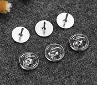 Набор 10 шт. застёжка основа для пинов, основа для пина 10 мм, серебро, фото 1