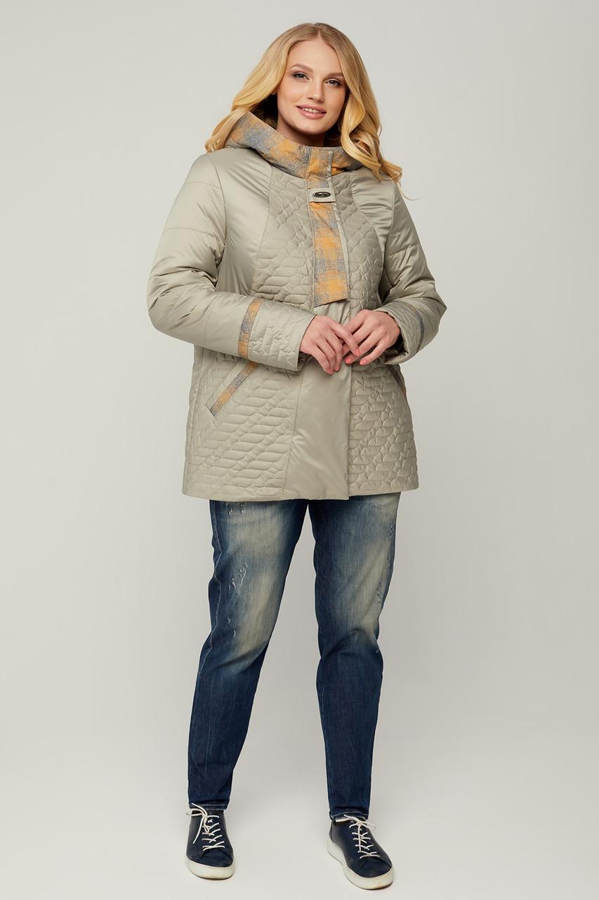 Весняна жіноча курточка з плащовки на синтепону 100