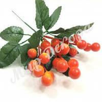 Веточка с ягодами, оранжевая, 20 см