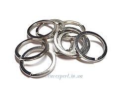 Кольцо ключное плоское 1,8*20 мм Никель (20 шт)