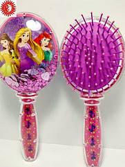 Расчёска для волос LaRosa Принцессы детская массажная с блёстками LR-7037