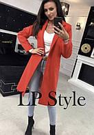 Женское кашемировое пальто на одну пуговицу, фото 1