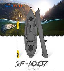 Взрослый каяк для гребли SF-1007 Gray знаменитого бренда SeaFlo