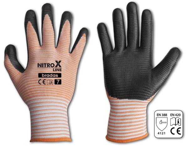Перчатки защитные NITROX LINE нитрил, размер 10, RWNL10 BRADAS