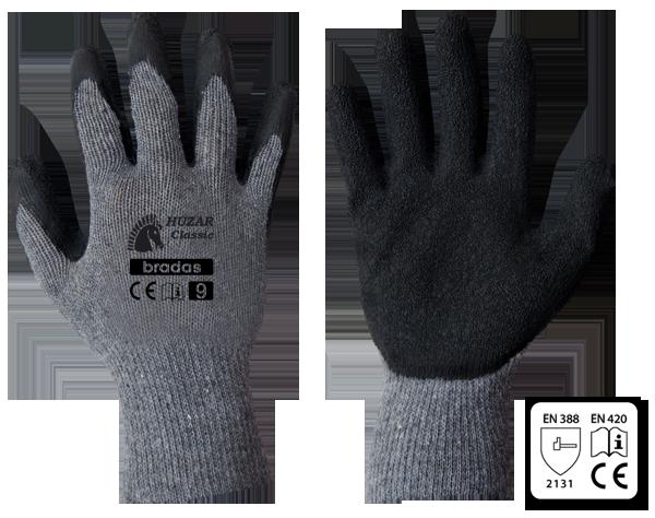 Перчатки защитные HUZAR CLASSIC латекс, размер 11, RWHC11 BRADAS