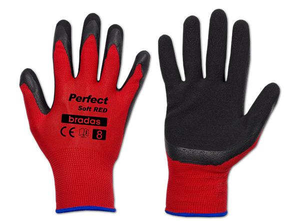 Перчатки защитные PERFECT SOFT RED латекс, размер 11, RWPSRD11 BRADAS