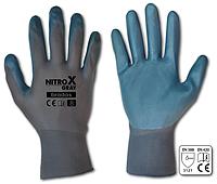 Перчатки защитные NITROX GRAY нитрил, размер 8, RWNGY8 BRADAS