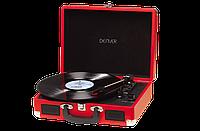 Проигрыватель виниловых дисков Denver VPL-120 RED 3-скоростной со стереодинамиками, чемодан / портфель