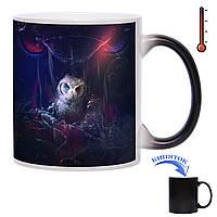 Чашка-хамелеон Гетерохромная Сова 330 мл